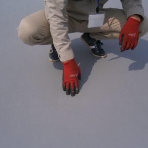 屋根防水補強メッシュ貼り付け完了あんしんリフォーム保険検査員立会