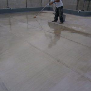 屋上防水プライマー塗布