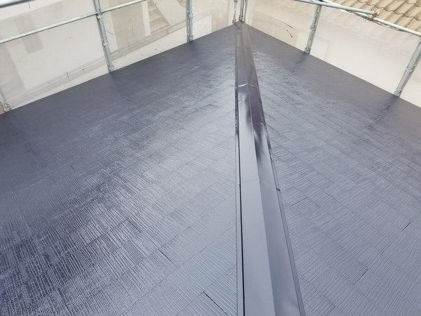 屋根コロニアル遮熱塗装仕上げ